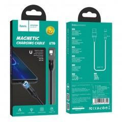 Câble Noir Hoco U76 Magnetic Type C 1M20