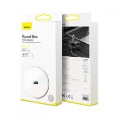 Adaptateur HUB Blanc Baseus Round Box Type-C et USB A 1M vers USB 3 et USB 2 x3 (CAHUB-GA02)