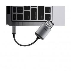 Adaptateur HUB Gris Baseus Enjoy Series Type-C vers Lecteur Carte SD et Carte TF (CAHUB-P0G)