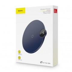 Chargeur Sans Fil Bleu Baseus avec Affichage Digital LED (WXSX-03)
