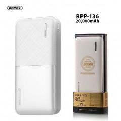 Batterie Externe Remax RPP 136 Blanc de 20000mAh