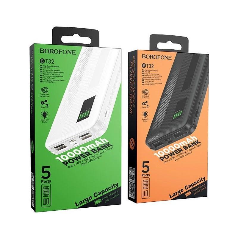 Batterie Externe Noire Borofone BT32 Noir 10000mAh