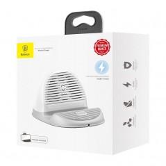 Chargeur induction Blanc Baseus avec base et ventilateur (WXHSG-02)
