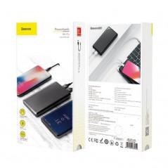Batterie Externe Baseus Noir Mini Cu 10000mAh USB x2 2.1A (PPALL-KU01)