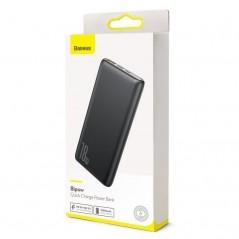 Power Bank Noir Baseus Bipow Quick Charge 10000mAh USB 2x / Type-C (PPDML-01)