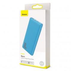 Power Bank Bleu Baseus Bipow Quick Charge 10000mAh USB 2x / Type-C (PPDML-03)