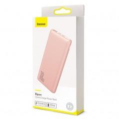 Batterie Externe Rose Baseus Bipow Quick Charge 10000mAh USB 2x / Type-C (PPDML-04)
