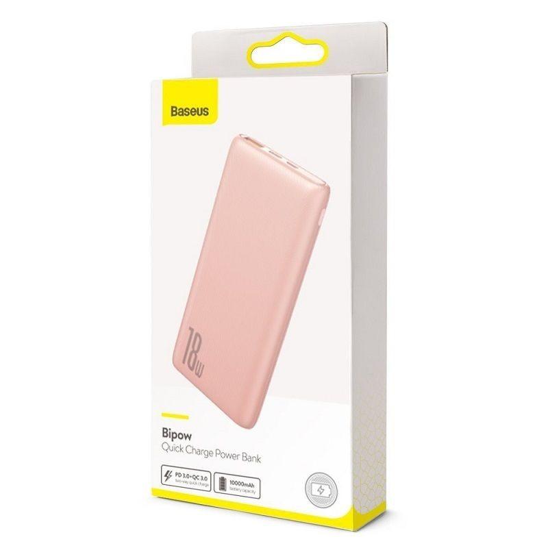 Power Bank Rose Baseus Bipow Quick Charge 10000mAh USB 2x / Type-C (PPDML-04)