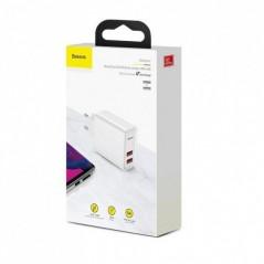 Chargeur Secteur Blanc Baseus Speed Dual 30W USB x2 5A (CCFS-E02)