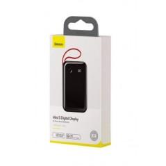 Batterie Externe Noire Baseus Mini S Digital Display 10000mAh avec Câble Type-C (PPXF-B01)