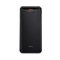 Batterie externe Noire Baseus Simbo Smart 10000mAh USB / Type-C / Lighting 3A avec Câble Type-C 0.50M (PPALL-QB01)