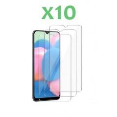 Lot de 10 Verres Trempé pour Samsung A30s