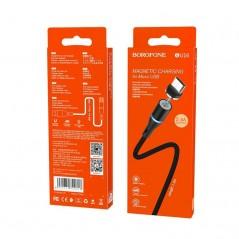 Câble Noir Micro USB - 1.2m - Borofone Magnetic (BU16)