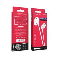 Écouteurs Filaires Universels avec micro Blanc Borofone (BM36)