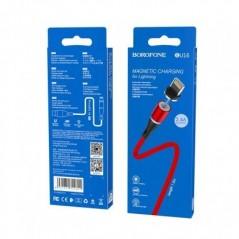 Câble Rouge Lightning - 1.2m - Borofone Magnétic (BU16)