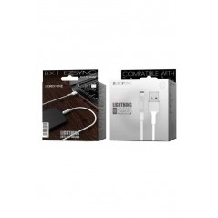Câble Blanc Lightning - 1m - Borofone (BX1)