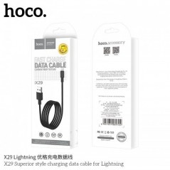 Câble Hoco X29 Carbon Fiber Lightning 1M Noir