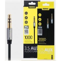 Câble audio AUX 3,5 mm Remax 2M Noir RL-L200