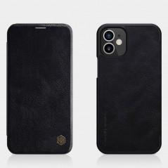Coque Nillkin Qin en cuir véritable iPhone 12 mini Noire