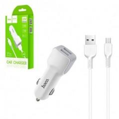 Adaptateur secteur + Câble Micro USB Hoco Z23 Blanc