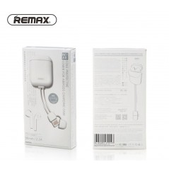 Étui Silicone Airpod Remax Blanc Avec Câble Lightning RC-A6