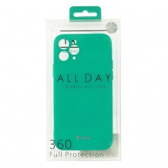 Coque Silicone Jelly iPhone 11 Vert Menthe