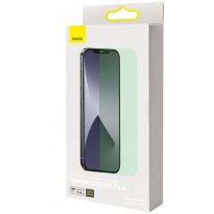 Lot de 2 Verres Trempés Anti-Lumière Bleue 0.3mm iPhone 12 / 12 Pro Vert (SGAPIPH61P-LP02)