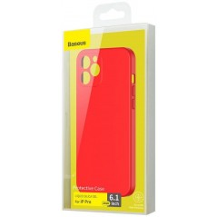 Coque Baseus Liquid Silica Gel iPhone 12 Pro Rouge (WIAPIPH61P-YT09)