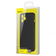 Coque Baseus Liquid Silica Gel iPhone 12 Pro Noire (WIAPIPH61P-YT01)