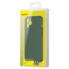 Coque Baseus Liquid Silica Gel iPhone 12 Pro Max Vert Foncé (WIAPIPH67N-YT6A)