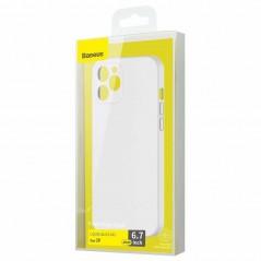 Coque Baseus Liquid Silica Gel iPhone 12 Pro Max Blanche (WIAPIPH67N-YT02)