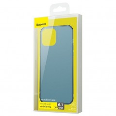 Coque Baseus Frosted Glass iPhone 12 / 12 Pro Bleue (WIAPIPH61P-WS03)