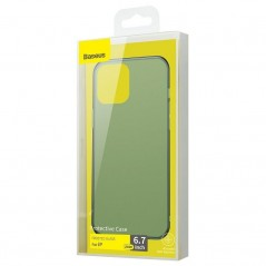 Coque Baseus Frosted Glass iPhone 12 Pro Max Vert Foncé (WIAPIPH67N-WS06)