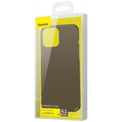 Coque Baseus Frosted Glass iPhone 12 / 12 Pro Noire (WIAPIPH61P-WS01)