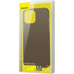 Coque Baseus Frosted Glass iPhone 12 Pro Max Noire (WIAPIPH67N-WS01)