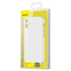 Coque Baseus Liquid Silica Gel iPhone 12 Blanc (WIAPIPH61N-YT02)