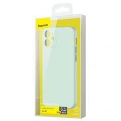 Coque Baseus Liquid Silica Gel iPhone 12 / 12 Pro Vert Menthe (WIAPIPH61N-YT6B)
