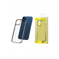Coque Baseus Shining iPhone 12 Pro Max Transparente et Or (ARAPIPH67N-MD0V)