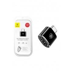 Adaptateur Noir Baseus USB vers Type-C 2.4A (CATOTG-01)