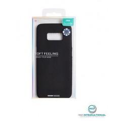 Coque silicone Samsung S8 Noir Matt Soft Feeling